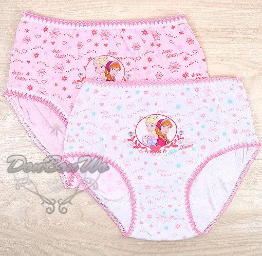 迪士尼冰雪奇緣兒童內褲三角褲內褲2件組粉白099633海渡