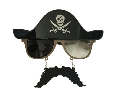 X射線【W413957】海盜眼鏡+鬍子,萬聖節/派對/尾牙/表演/角色扮演/面具/舞會/搞怪/船長/春酒/道具/造型眼鏡