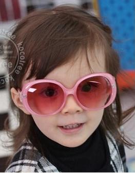 Kocotree◆超酷明星兒童防紫外線護目太陽眼鏡-粉色