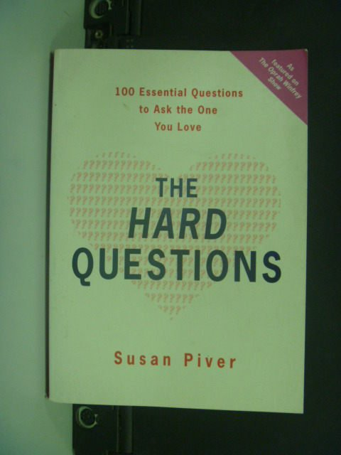 【書寶二手書T4/勵志_KIK】The Hard Questions_Susan Piver