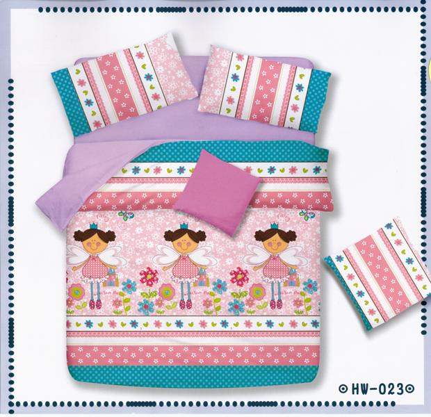✧臺灣製✧舒柔棉磨毛超細纖維床包組《HW-0023》5X6.2尺雙人床包組+兩用被 四件組◤彩虹森林◥