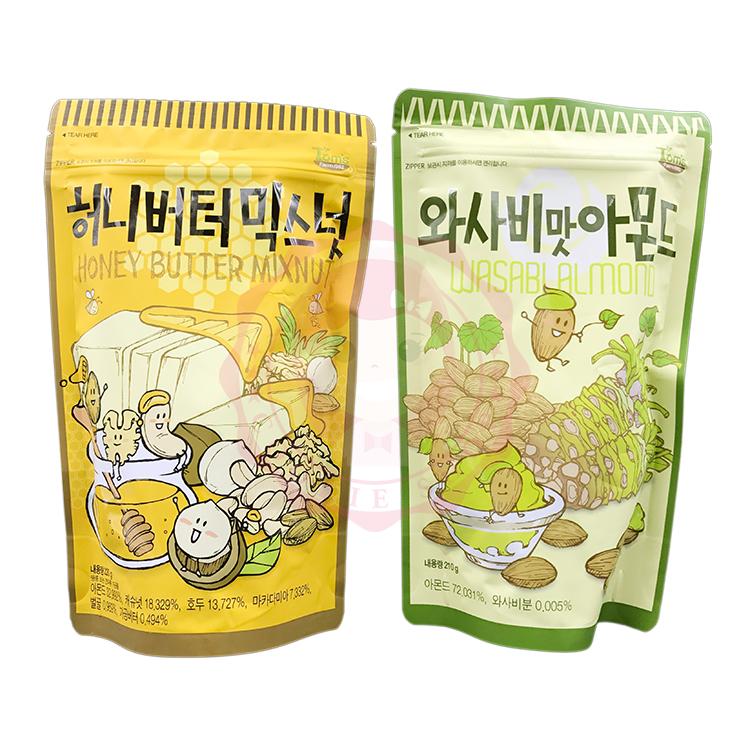 韓國 Toms Gilim 杏仁果 哇沙米芥末口味/蜂蜜奶油綜合堅果 兩入組(250g+220g)【庫奇小舖】