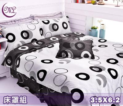 【名流寢飾家居館】幸福交集.100%PIMA棉.80支棉.400支紗.加大單人床罩組全套