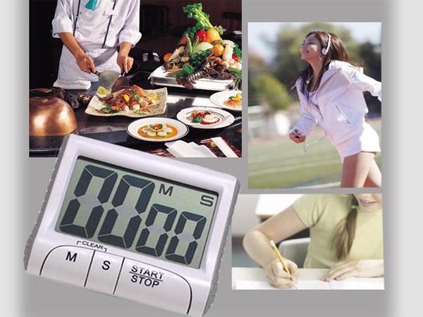 BO雜貨【SV6201】超大螢幕電子廚房定時器 提醒器 電子倒計時器定時器 磁鐵吸附帶夾子架