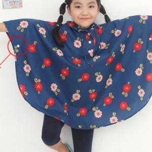 美麗大街【BF177E10】SAFEBET 韓國時尚櫻桃雨披 加厚旅行休閒兒童雨衣(M碼)兒童款