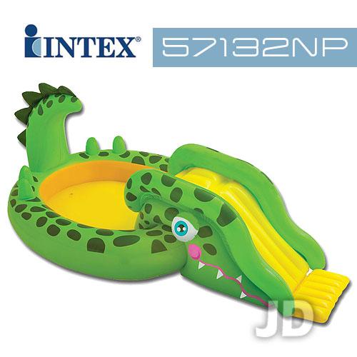 【INTEX】冒險樂園充氣式游泳池溜滑梯 57132NP
