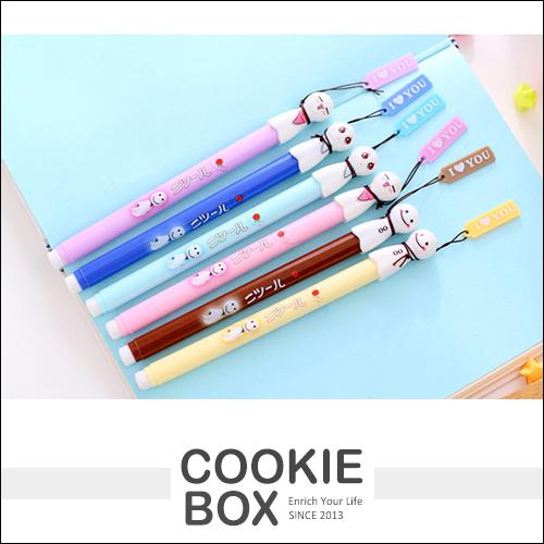 晴天娃娃 中性筆 原子筆 滾珠筆 可愛 造型 文具 *餅乾盒子*