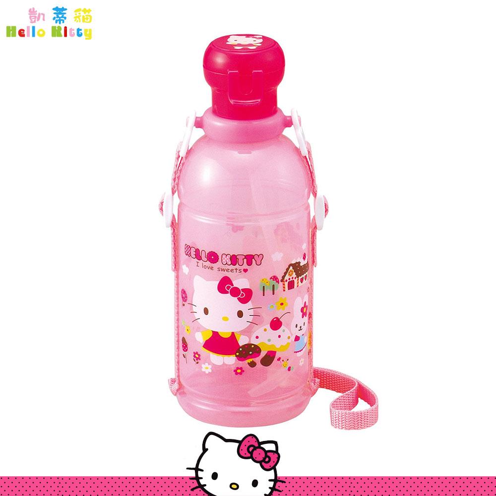 大田倉 日本進口正版 Hello Kitty 凱蒂貓 寶特瓶水壺 水瓶  小學 冷水壺 孩童 400ml  076237