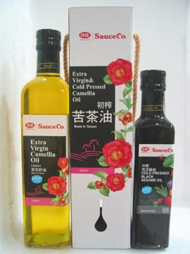 味榮~天然茶花籽油(苦茶油)500ml/罐~送冷壓黑芝麻油260ml/罐~特惠中