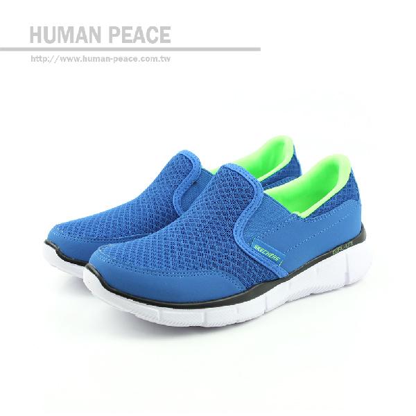 SKECHERS EQUALIZER 懶人鞋 藍 童 no205