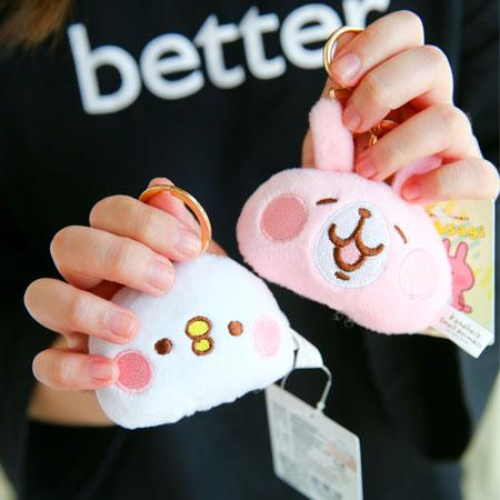 正版卡娜赫拉扣環頭型娃娃 吊飾 娃娃 鑰匙圈 兔子 小兔兔 P助 小雞 Kanahei【B062347】