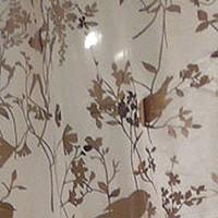日本進口自然花鳥剪影透光窗簾