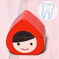 日本小紅帽木製乳齒收納盒 Out