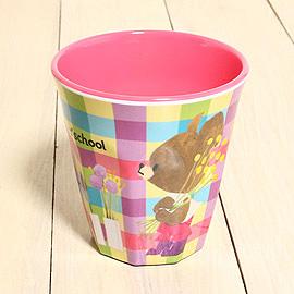 Bear School 小熊學校 日版 - 彩色格子塑膠杯