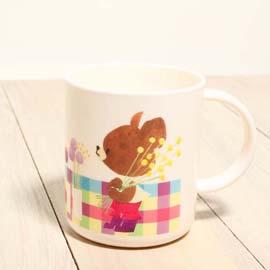 Bear School 小熊學校 日版 - 彩色格子小把手塑膠杯