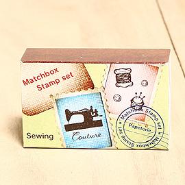 日本「Kodomo小孩牌」火柴盒小印章-001復古裁縫機「熱銷再入荷」
