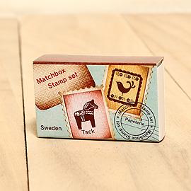 日本「Kodomo小孩牌」火柴盒小印章-006北歐馬與鳥「新補貨到!」