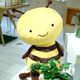 日本Karel Capek(超大)超可愛小蜜蜂Buzzy玩偶-來自日本山田詩子紅茶店的可愛周邊玩偶