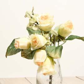 仿真花系列 「乾燥玫瑰」- 天使白 「新品」