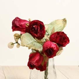 仿真花系列 「乾燥玫瑰」- 華麗紅 「新品」