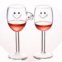 日本幸福微笑情侶紅酒對杯組