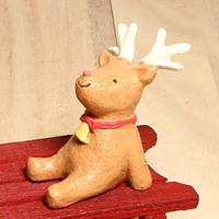 日本活力小方巾小動物擺飾-小麋鹿「Out」
