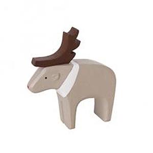 日本T-lab細膩手工木作動物擺飾-上色款麋鹿