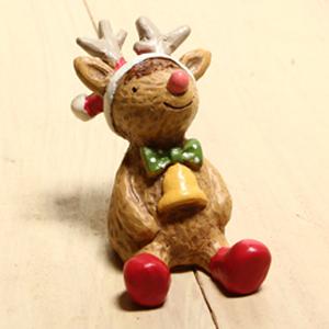 日本方巾小動物擺飾-2014聖誕麋鹿「聖誕節限定」