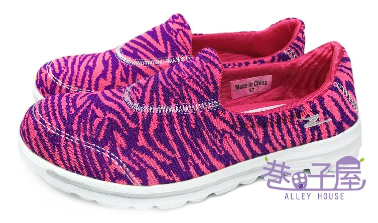 【巷子屋】FrigateBird軍艦鳥 女款編織記憶鞋墊懶人健走鞋 [168060] 紫粉 超值價$690