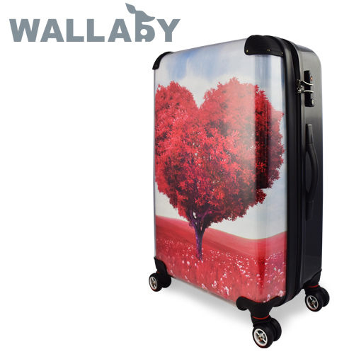【JOHOYA】20吋-浪漫愛心樹可DIY換殼行李箱HTX-1524 *硬殼行李箱*MIT台灣製造