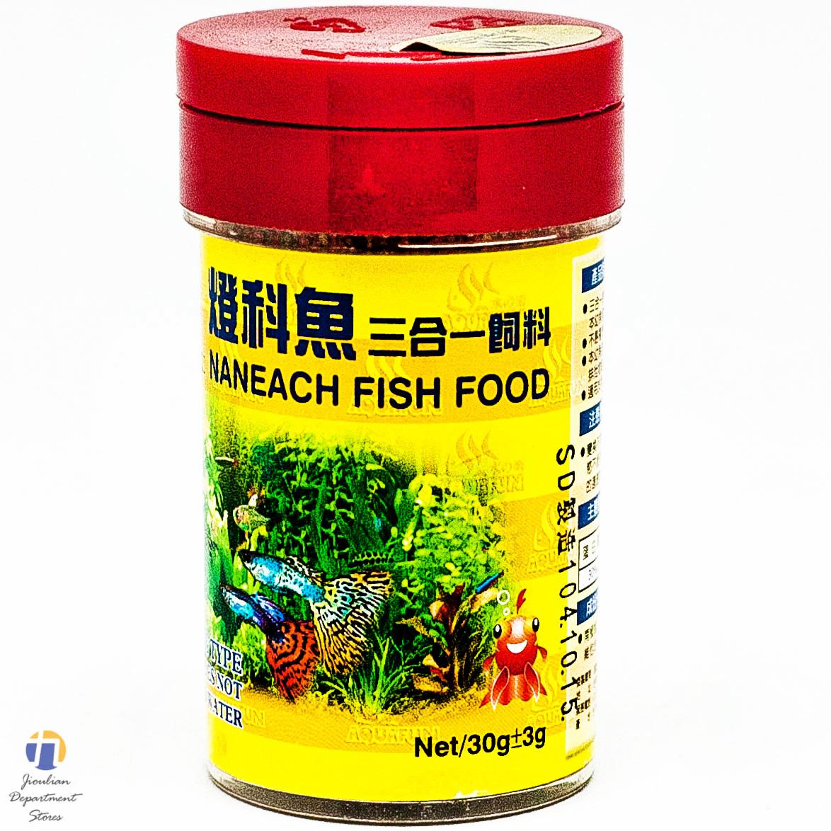 {九聯百貨} 登科魚 3合1 魚飼料 30g
