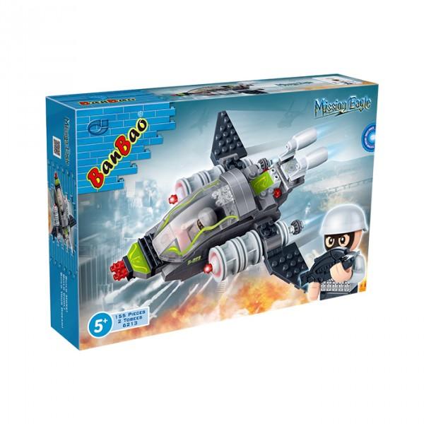 【BanBao 積木】超級警察系列-隼式飛機 6213  (樂高通用) (單筆訂單購買再加送積木拆解器一個)