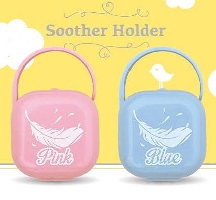 B52 香草奶嘴專用羽毛奶嘴盒/奶嘴收納盒(粉/藍)