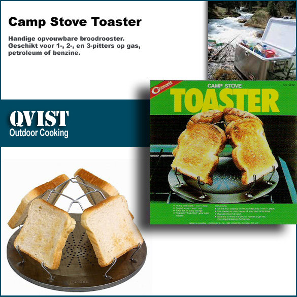 【CAMP-LAND】RV-ST240 Camp Stove Toaster 野營多用途烤麵包架 烤吐司架 #304不鏽鋼絲 焚火台 瓦斯爐