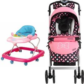 ViVi Baby - Disney迪士尼米妮推車優惠組 (米妮推車+藍/粉學步車)