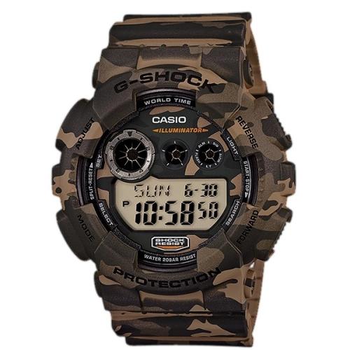 CASIO G-SHOCK玩酷叢林迷彩運動腕錶/GD-120CM-5DR