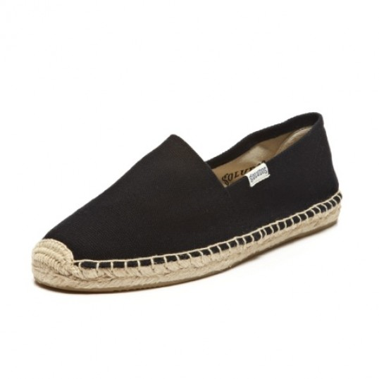 【Soludos】美國經典草編鞋-基本款草編鞋-黑
