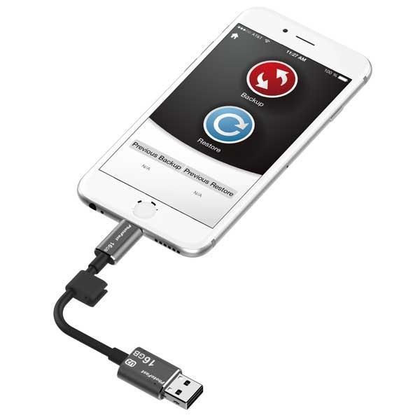 PhotoFast 16G線型 Apple隨身碟 可當充電線 不須網路電腦傳輸快速輕鬆備份