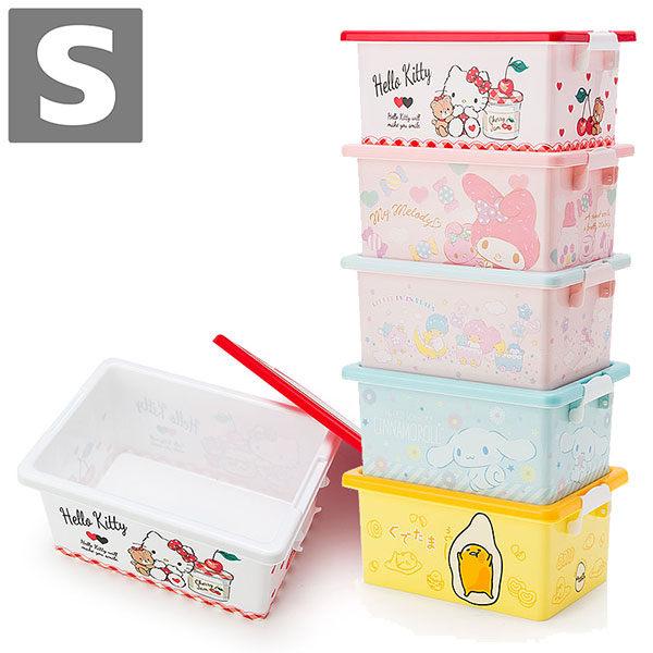 KITTY美樂蒂雙子星大耳狗蛋黃哥收納置物盒整理箱S號附蓋718520海渡