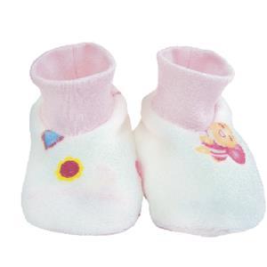 【蜜妮寶貝嬰童用品館】滿版暖絨腳套 / 藍色、粉紅