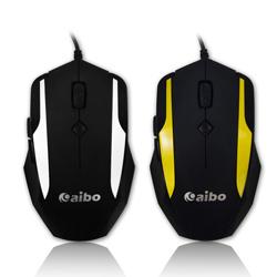 【迪特軍3C】AIBO LY-ENMS618 S618 六鍵式 USB 光學 滑鼠-黃【線1.5米】電腦滑鼠