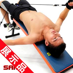 特長!!弧形仰臥起坐板+拉力器(展示品)健腹機健腹器.拉繩拉力繩彈力繩.仰板仰臥板運動健身器材.推薦哪裡買ptt  C153-005--Z