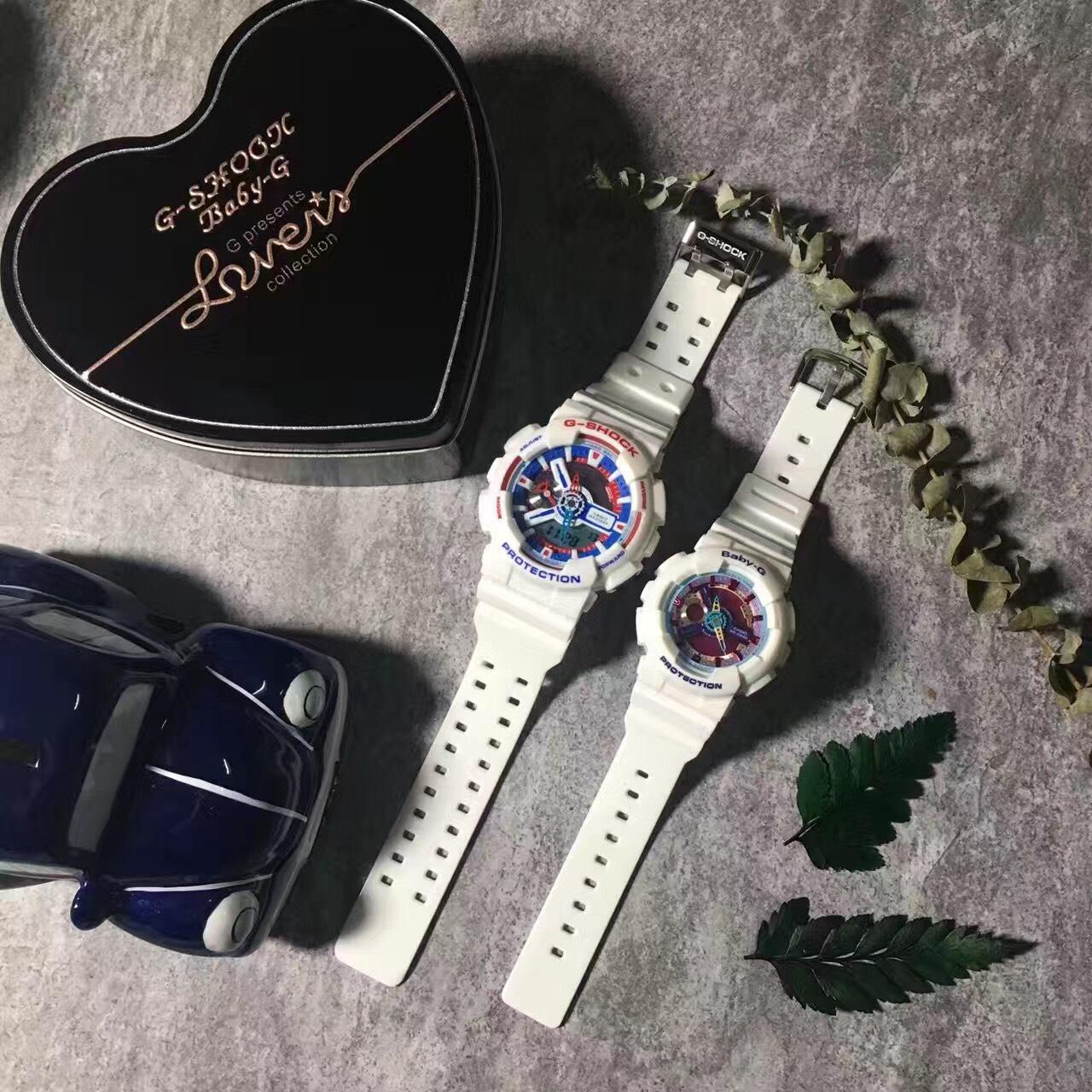 國外代購CASIO G-SHOCK GA110GB & BABY-G BA112-7A 情侶對錶 雙顯 防水手錶
