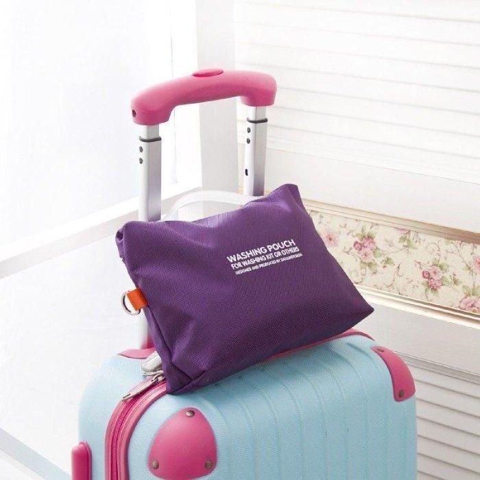 * Anne&Alice 包包購 *~時尚旅行便攜洗漱包 可掛式化妝包 多功能收納包 旅行必備收納袋(大號)~*