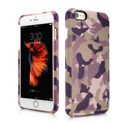 ICARER 迷彩系列 插卡背蓋手工真皮保護套/iPhone 6/6S/4.7吋/手機殼/插卡殼/背蓋【馬尼行動通訊】