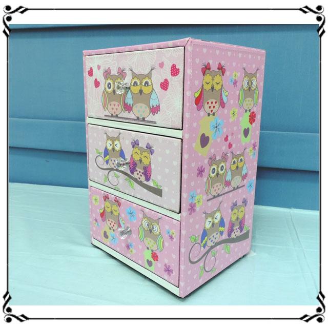 木製小斗櫃小3抽《LN5》鄉村風 貓頭鷹三抽櫃 小型3抽櫃 皮革收納櫃 兒童玩具櫃 辦公室◤彩虹森林◥