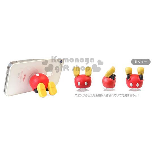 〔小禮堂〕Hamee 迪士尼 米奇 造型吸盤式手機架《紅.黃鞋.屁股》