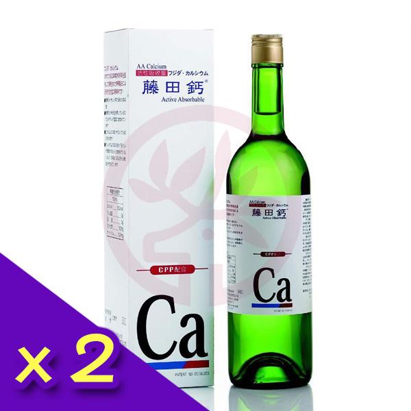 杏懋藤田鈣 藤田鈣液劑(750ml/瓶)x2