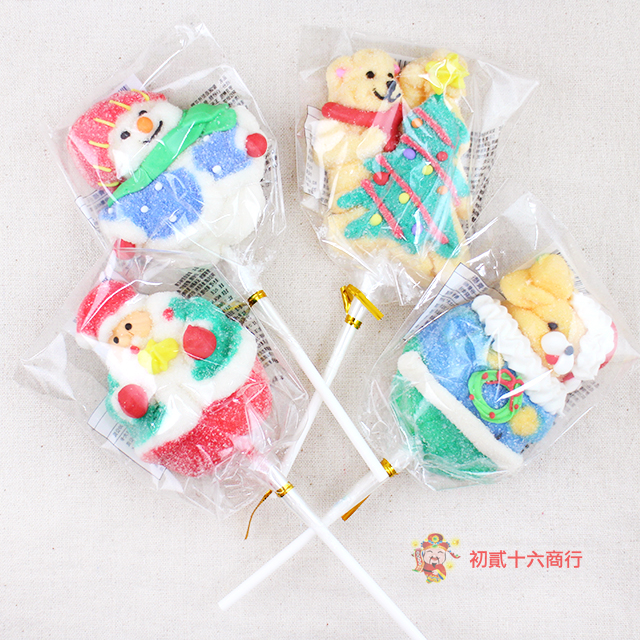 【0216零食會社】日日旺_聖誕造型棉花糖45g