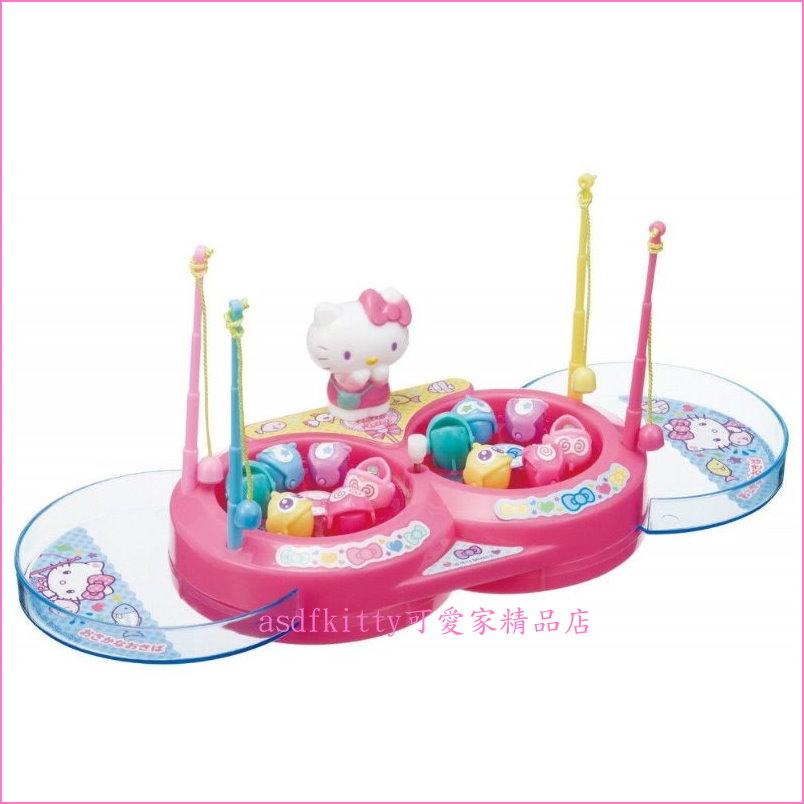 asdfkitty可愛家☆KITTY 8字型釣魚玩具組-遊戲組-兒童玩具-日本正版商品